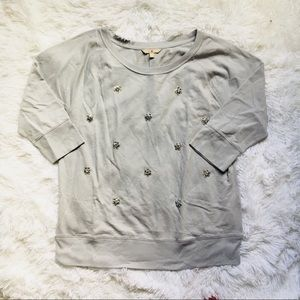 ☀️ Banana Republic |  Bedazzle Sweatshirt